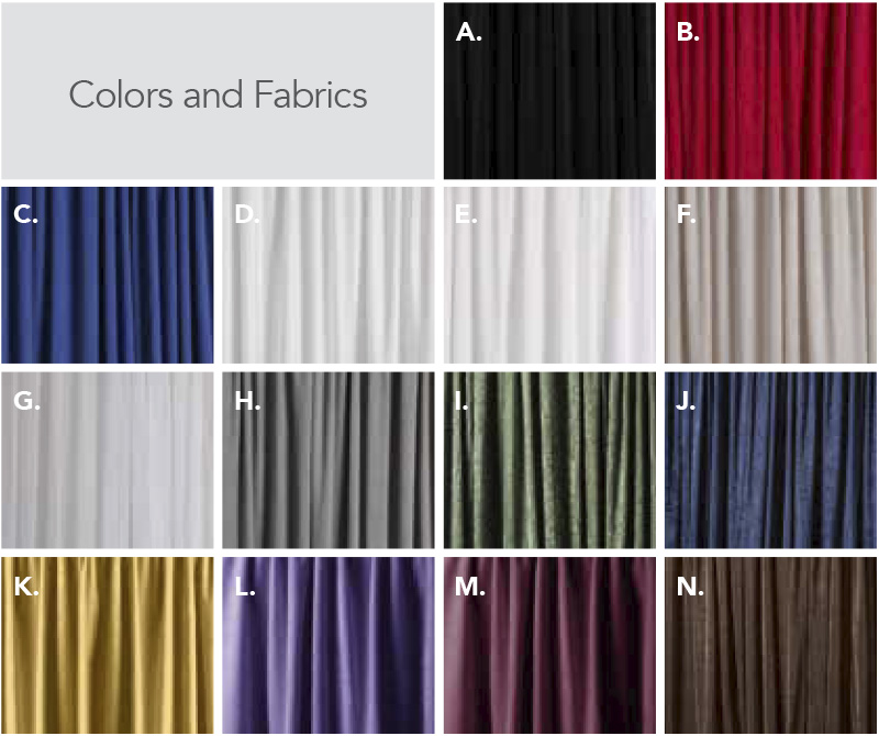 block of available drape colors